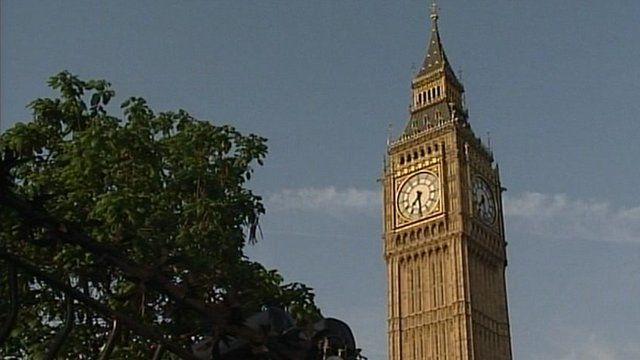 The Westminster clock tower