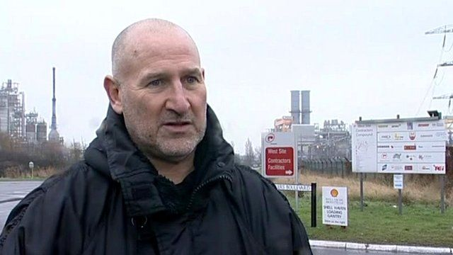 Russell Jackson, chairman of Unite at Coryton Refinery