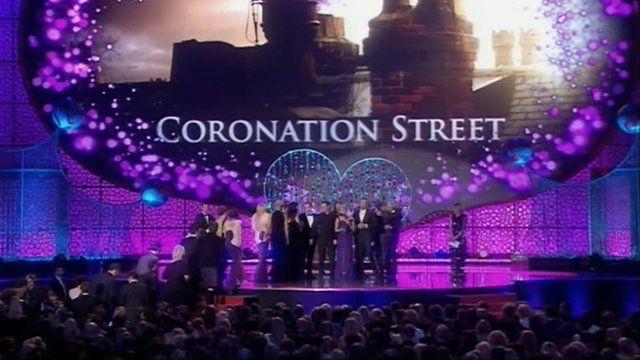 Coronation street stars at National Television Awards