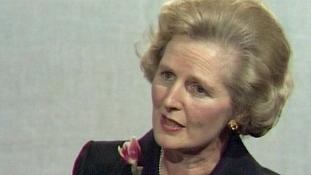 Margaret Thatcher (archive picture)