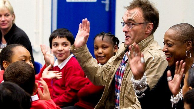 Director Danny Boyle auditions schoolchildren for London 2012's opening ceremony