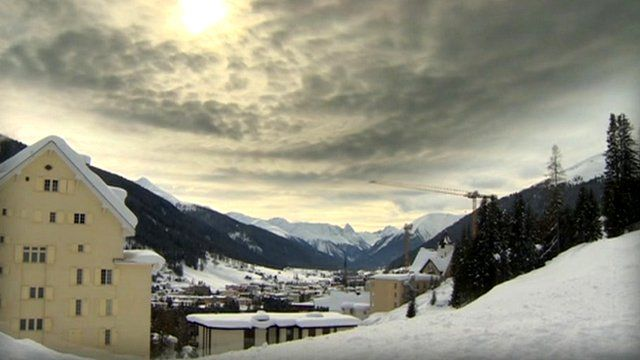 Clouds over Davos skyline