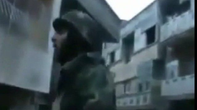 Image of a soldier from Homs on 26 January