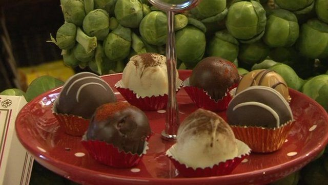 Chocolate-covered sprouts