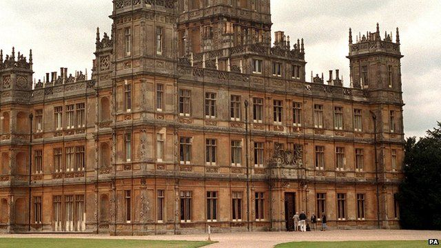 Highclere Castle features in the TV series Downton Abbey