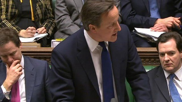 Prime Minister David Cameron in the Commons