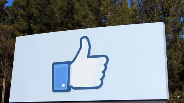 Facebook's 'like' icon at its HQ in California