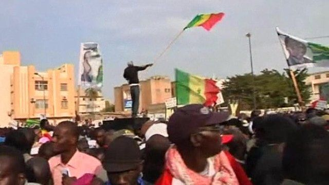 Protesters in Senegal