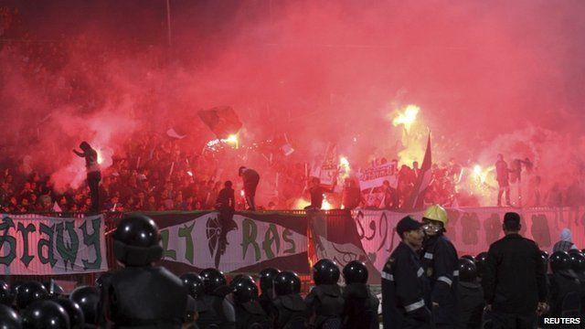 Stadium chaos