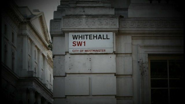 Whitehall in London