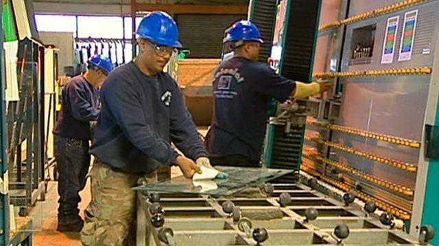 Workmen in a US factory