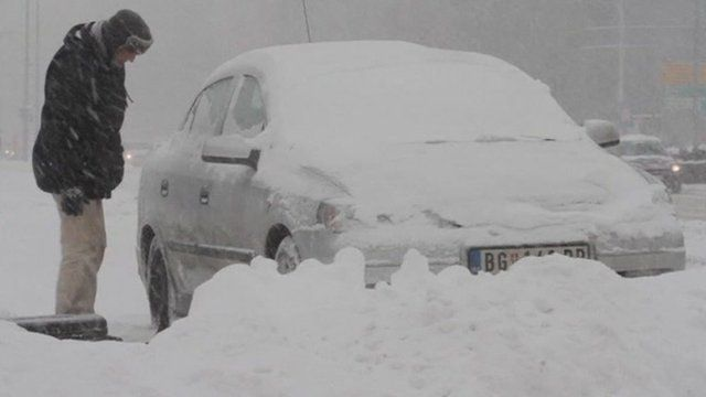 Snow in Serbia