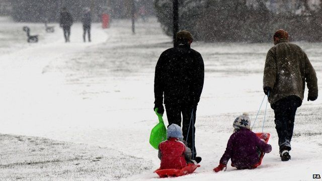 Snowy scene in Yorkshire
