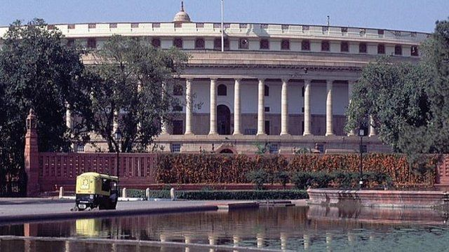 The Indian parliament in New Delhi