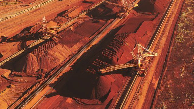 An iron ore mining operation in Western Australia
