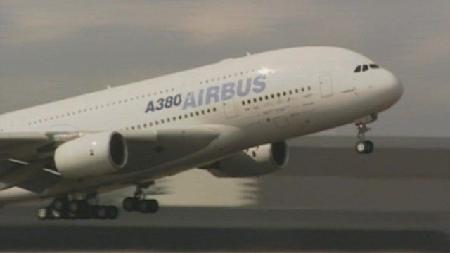 Airbus takes off A380