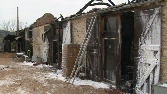 Fire damage at Hugh Fearnley-Whittingstall's River Cottage headquarters in Devon