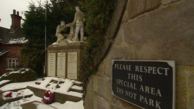 War memorial in Derbyshire