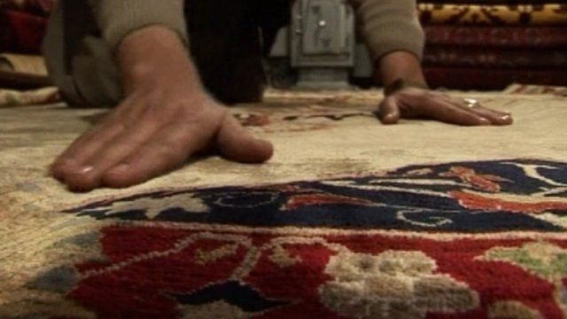 Afghan carpet.