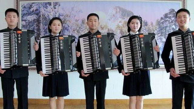 North Korean accordionists