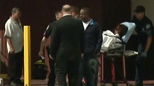 Bobbi Kristina Brown being taken to hospital in LA