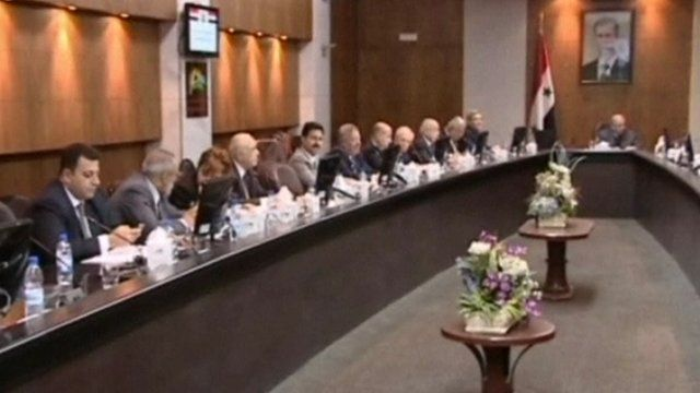 Meeting of ministers to discuss the future of Syria