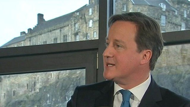 Prime Minister David Cameron says England, Scotland, Wales and Northern Ireland are stronger together