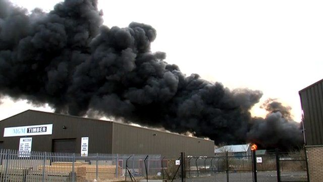 Fire at a recycling centre in Perth