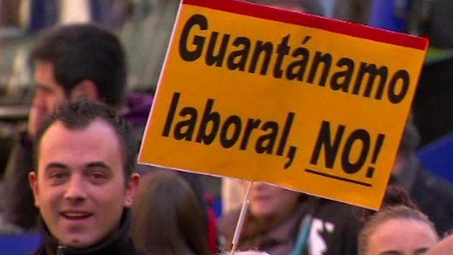 Labour reform protester