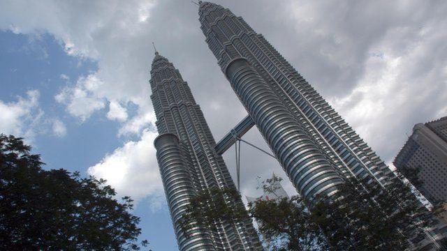 The Petronas Towers in Malaysia's capital Kuala Lumpur