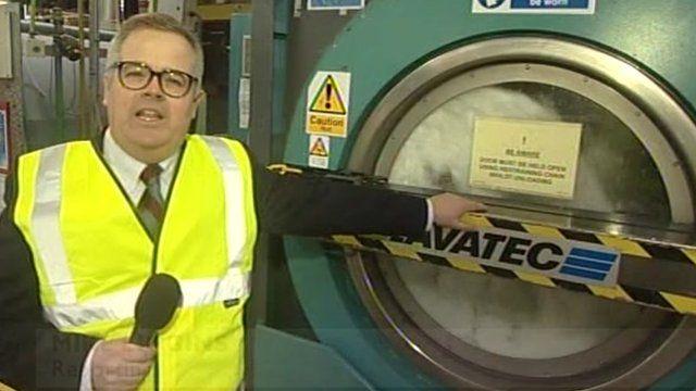 Mike Liggins at Fakenham Laundry