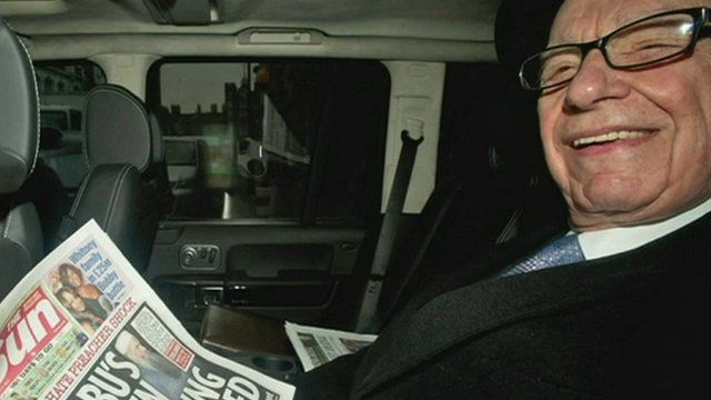 News Corporation's Rupert Murdoch has said he would oversee the launch in London