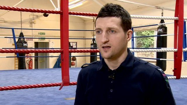 The former WBC Super Middleweight champion Carl Froch