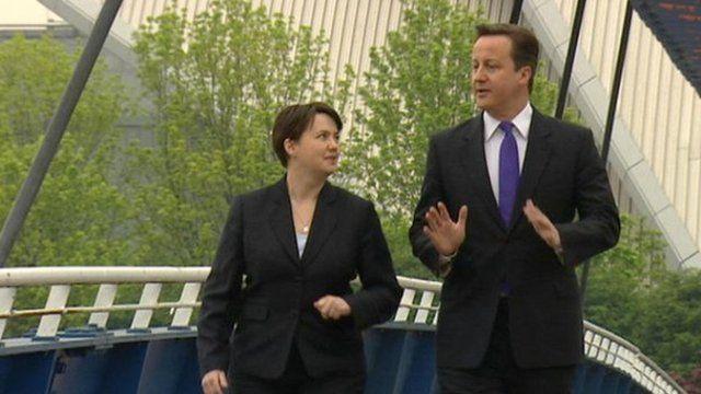 Scottish Conservative Leader Ruth Davidson and Prime Minister David Cameron