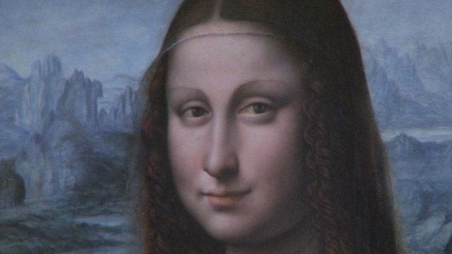A copy of Leonardo Da Vinci's Mona Lisa on show in Madrid