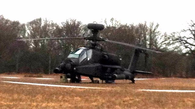 Apache after emergency landing