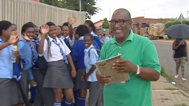 """Sipho """"Hotstix"""" Mabusay going to school"""