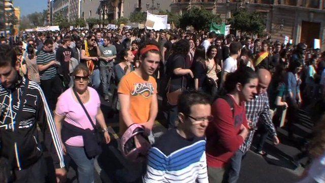 Valencia protest march