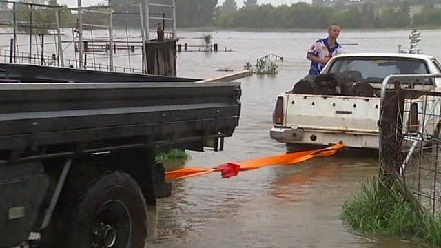 Floods in Bathurst, Australia