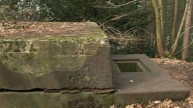 World War II bunker at Ibsley