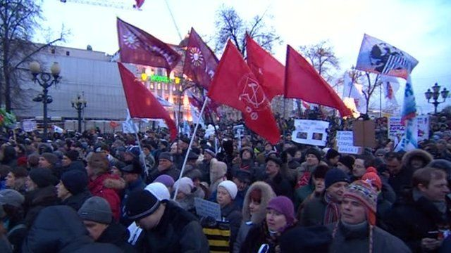 Anti-Putin protesters in Moscow.