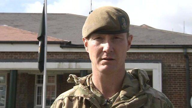 Lt Col Zac Stenning commander 3rd Battalion the Yorkshire Regiment