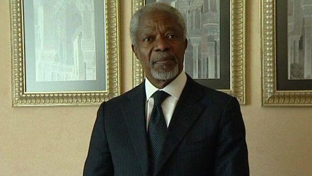 UN-Arab League peace envoy Kofi Annan