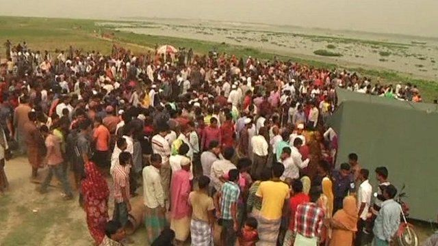 People waiting for news of rescue and recovery operation