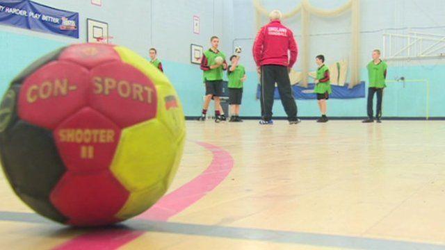 Students at Cardinal Heenan Catholic High School playing handball