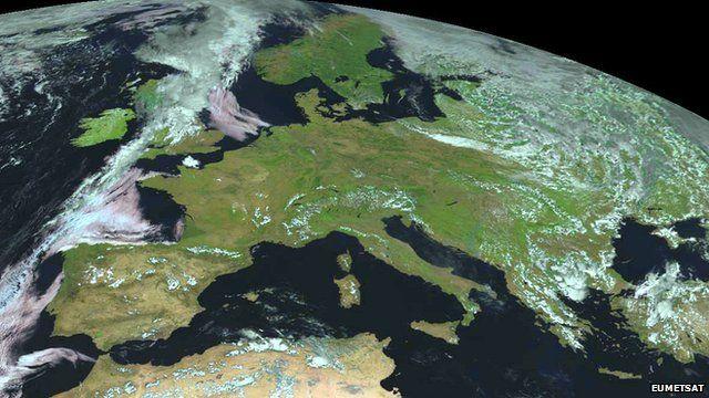 Meteosat image of Europe