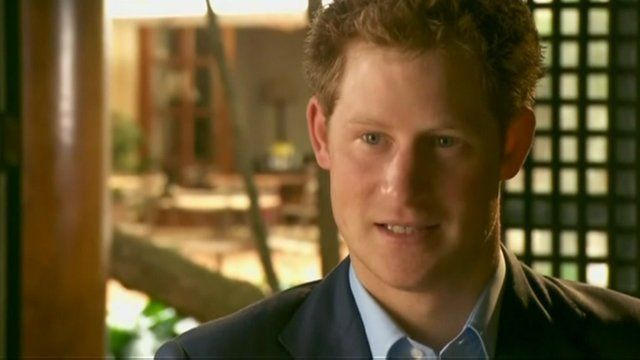 Prince Harry talks to CBS News