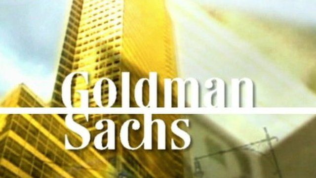 Graphic of Goldman Sachs logo over building