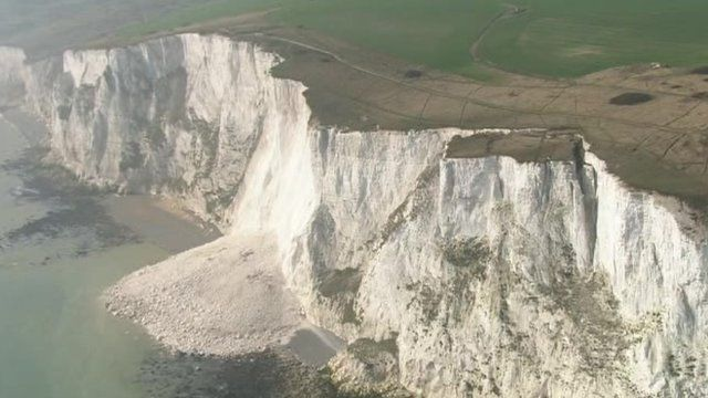 Collapsed cliff face near Dover