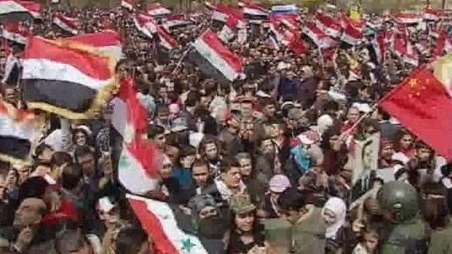 Pro-Assad rally in Syrian capital